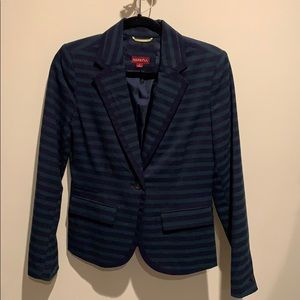 Target Merona Navy and Green Striped Blazer